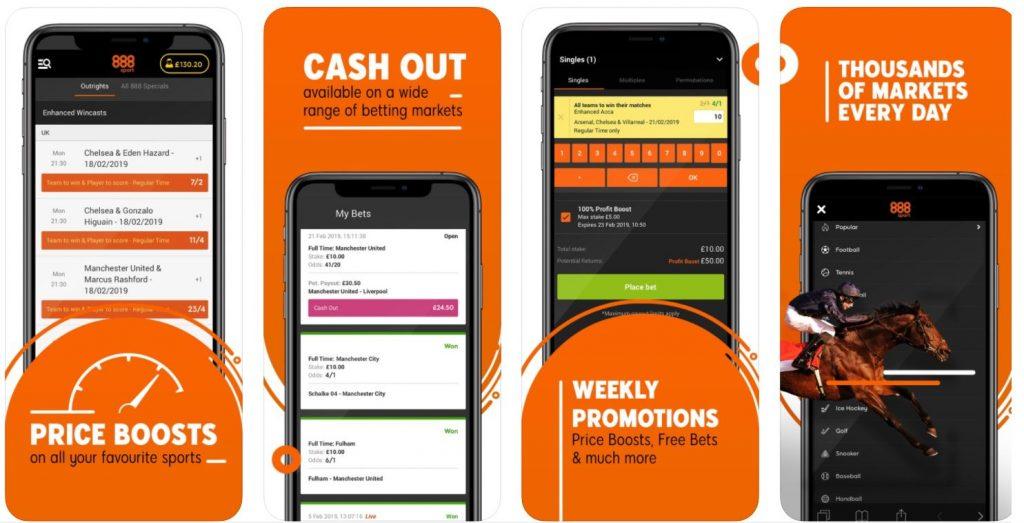 888 Sports Betting App Availability