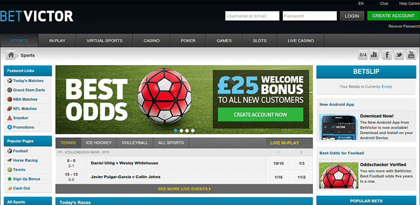 Betvictor sports betting